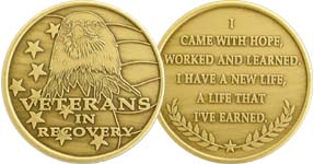 WBRM114 Veterans in Recovery Medallion