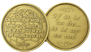 WBRM115 Gandhi Quote Medallion