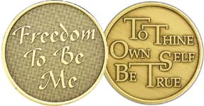 WBRM137R Freedom to be Me Roll of 25 Medallions