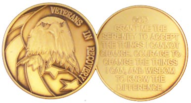 GBRM1114R Roll of 25 Veterans in Recovery Medallion