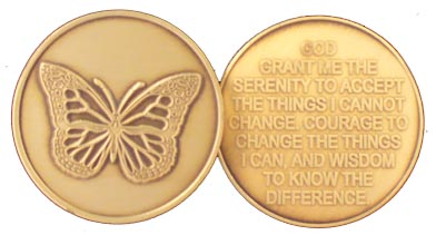 GBRM1006R Roll of 25 Butterfly Medallion
