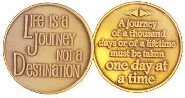 GBRM2109 Life is a Journey Medallion Facebook