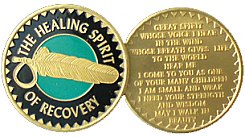 WBRB054 Painted Healing Spirit of Recovery Medallion