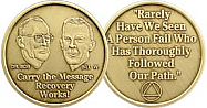 WBRM100 Bill and Bob Medallion