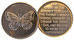 WDC006R Butterfly Aluminum Token Roll of 25