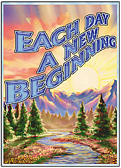 VGC32 Each Day a New Beginning Greeting Card