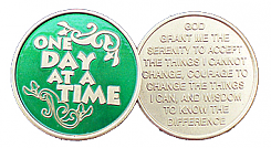 WBSC1050G Translucent Emerald Green One Day at a Time Medallion