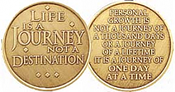 WBRM109 Life is a Journey Medallion