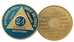 WBLU24H Blue and Gold 24 Hour Medallion
