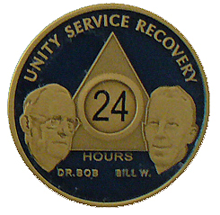 WBB24P Special Order Painted Bill and Bob 24 Hour Medallion