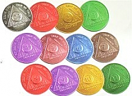 WBAA12S Full Set Monthly Aluminum Tokens 24 Hour - 11 Month