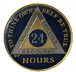 BSP24H Blue 24 Hour Triplated Medallion