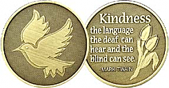 WBRM131R Dove Kindness Roll of 25 Medallions