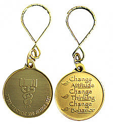 WBRM119KT Drug Court Medallion Key Chain
