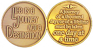 GBRM2109R Roll of 25 Life is a Journey Medallion
