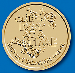 WBSC1050C One Day at a Time Customized Coin