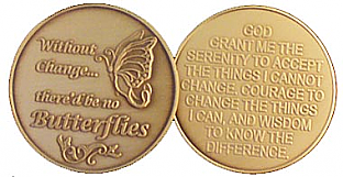 GBRM1005 Butterfly Change Serenity Medallion