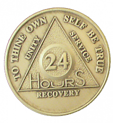 BAA24 24 Hour Bronze AA Medallion