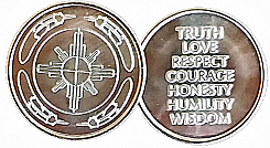 WBSC4010S Silver Tone Medicine Wheel and Sacred Teachings