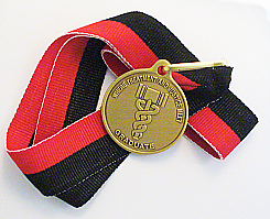 WBRM119GRB Drug Court Medallion Graduation Ribbon