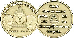 WBB800 Bill and Bob Anniversary Year Medallions
