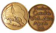GBRM2095 Sailboat Medallion