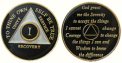 RMBLA Triplated Anniversary Birthday Medallion Black
