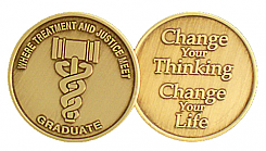 WBRM119G Drug Court Graduation Medallion