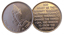 wdc001 Praying Hands Aluminum Token
