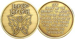 WBRM091R Let Go Let God Medallion Roll of 25
