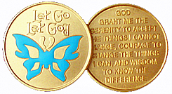 WBRB091 Painted Let Go Let God Butterfly