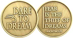 WBRM094R Dare to Dream Roll of 25 Medallions