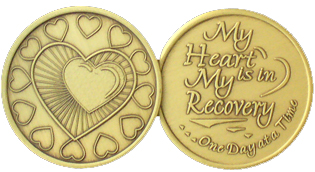 WBRM060 My Heart is in Recovery medallion