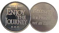 WDC134R Roll of 25 Welcome Journey Aluminum Tokens