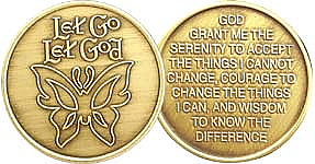 WBRM091 Let Go Let God Butterfly Medallion
