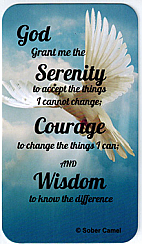 WC45 Serenity Prayer Wallet Card