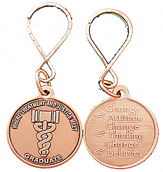 WBRM119GKT Drug Court Graduate Keytag Key Chain