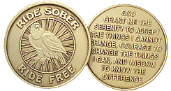 WBRM157 Ride Sober Ride Free Serenity Prayer Coin