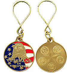 WBSC3114KT Painted Veterans in Recovery Keytag Key Chain