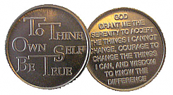 WDC074R Roll of 25 To Thine Own Self Aluminum Tokens