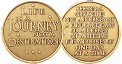 WBRM109R Roll of 25 Life is a Journey Medallion