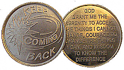 WDC077 Keep Coming Back Aluminum Token