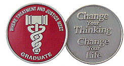 WBRM119GP Painted Drug Court Graduation Medallion