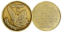 GBRM1020 Women in Recovery Butterfly Medallion