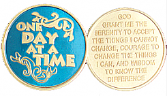 WBSC1050B Translucent Blue One Day at a Time Medallion