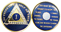 BSPTR-BLU BlueTriplated Medallion