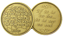 WBRM115R Gandhi Quote Medallion rolls of 25