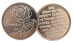 WDC004R Roll of 25 Women in Recovery Aluminum Tokens