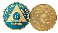 WBLU06M Blue and Gold 6 Month Medallion