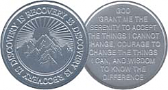 WDC064 Recovery Discovery Aluminum Token